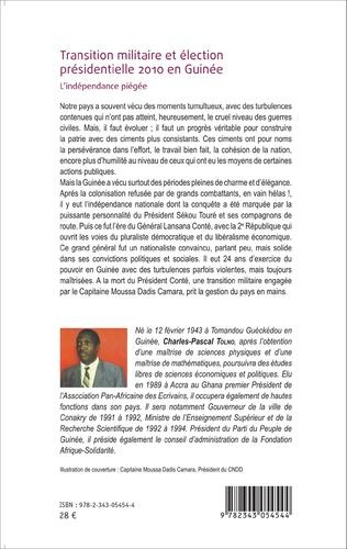 4eme Transition militaire et élection présidentielle 2010 en Guinée