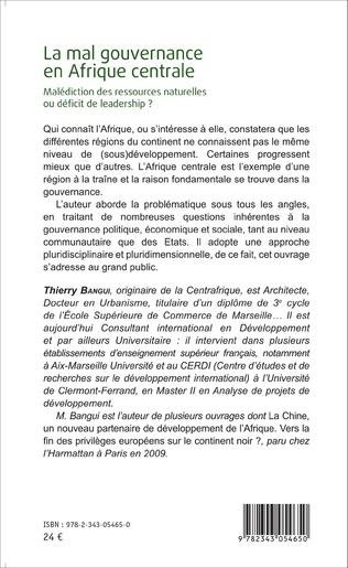 4eme La mal gouvernance en Afrique centrale