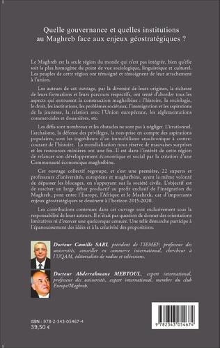 4eme Quelle gouvernance et quelles institutions au Maghreb face aux enjeux géostratégiques?