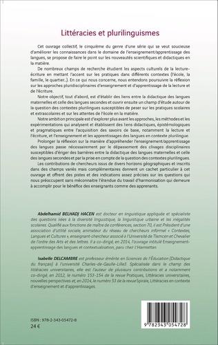4eme Littéracies et plurilinguismes