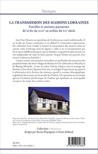 4eme La Transmission des maisons lorraines
