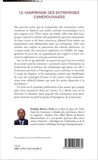 4eme Le vampirisme des entreprises camerounaises