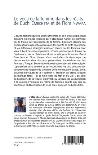 4eme Le vécu de la femme dans les récits de Buchi Emecheta et de Flora Nwapa