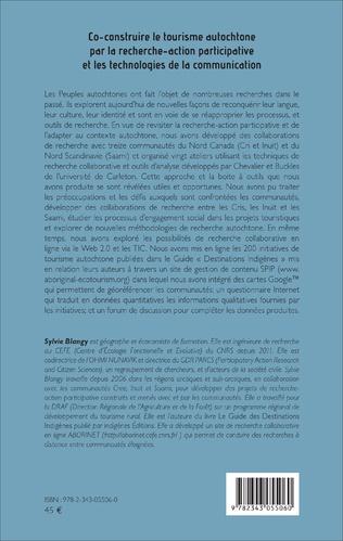 4eme Co-construire le tourisme autochtone par la recherche-action participative et les technologies de la communication