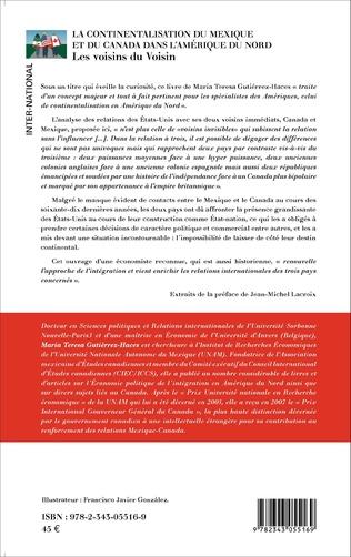4eme La continentalisation du Mexique et du Canada dans l'Amérique du Nord