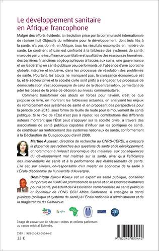 4eme Le développement sanitaire en Afrique francophone