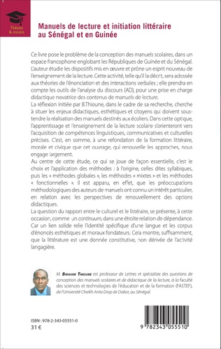 4eme Manuels de lecture et initiation littéraire au Sénégal et en Guinée