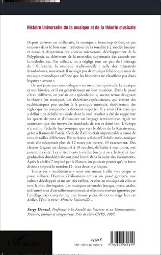 4eme Histoire Universelle de la musique et de la théorie musicale
