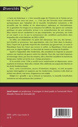 4eme L'acte II de la Révolution tunisienne : La Constitution