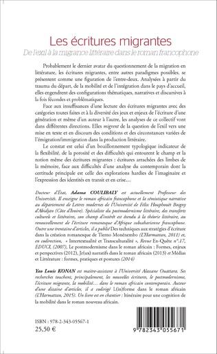 4eme Les écritures migrantes