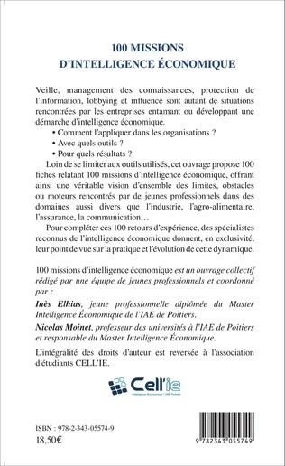 4eme 100 missions d'intelligence économique