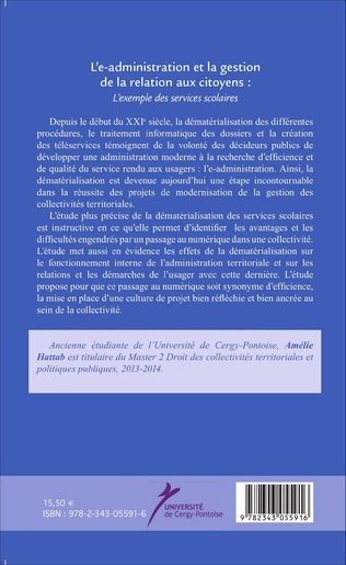 4eme L'e-administration et la gestion de la relation aux citoyens