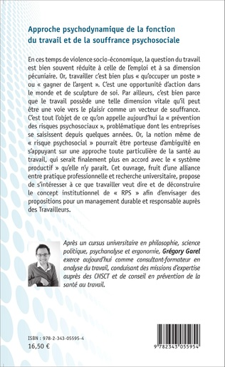 4eme Approche psychodynamique de la fonction du travail et de la souffrance psychosociale