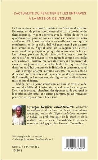 4eme L'actualité du psautier et les entraves à la mission de l'Eglise