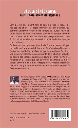 4eme L'école sénégalaise. Faut-il totalement désespérer ?