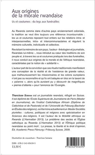 4eme Aux origines de la morale rwandaise
