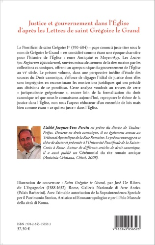 4eme Justice et gouvernement dans l'Eglise d'après les Lettres de saint Grégoire le Grand