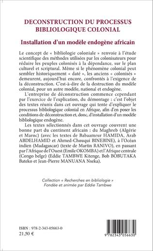 4eme Déconstruction du processus bibliologique colonial