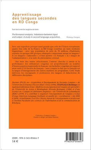 4eme Apprentissage des langues secondes en RD Congo  suivi de la version anglaise du texte