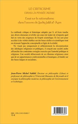 4eme Le criticisme dans la pensée arabe