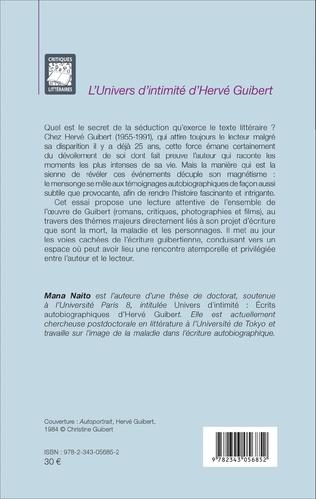 4eme L'univers d'intimité d'Hervé Guibert