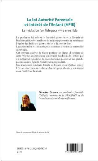 4eme La loi Autorité Parentale et Intérêt de l'Enfant (APIE)