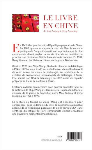 4eme Le livre en Chine de Mao Zedong à Deng Xiaoping