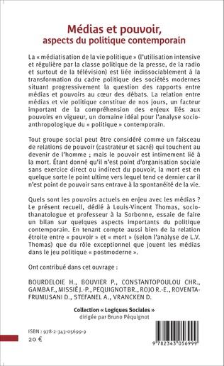 4eme Médias et pouvoir, aspects du politique contemporain
