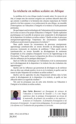 4eme La tricherie en milieu scolaire en Afrique