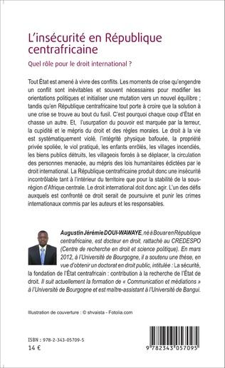4eme L'insécurité en République centrafricaine