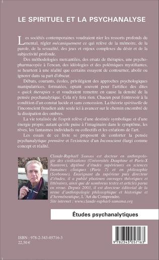 4eme Le spirituel et la psychanalyse