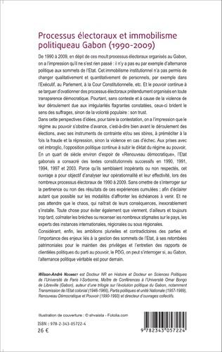 4eme Processus électoraux et immobilisme politique au Gabon (1990-2009)