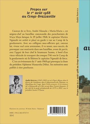4eme Propos sur le 1er août 1968 au Congo-Brazzaville