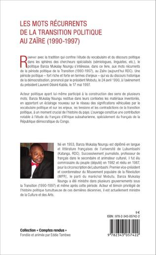 4eme Les mots récurrents de la transition politique au Zaïre (1990-1997)
