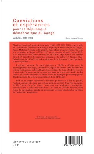 4eme Convictions et espérances pour la République démocratique du Congo