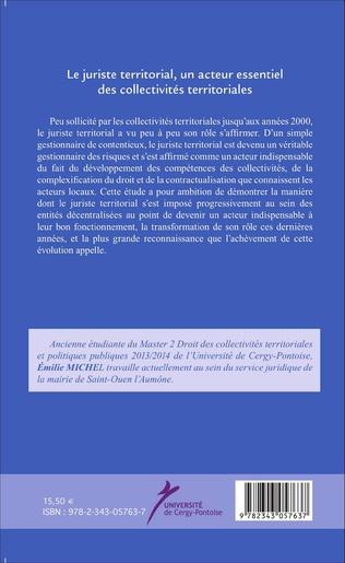 4eme Le juriste territorial, un acteur essentiel des collectivités territoriales