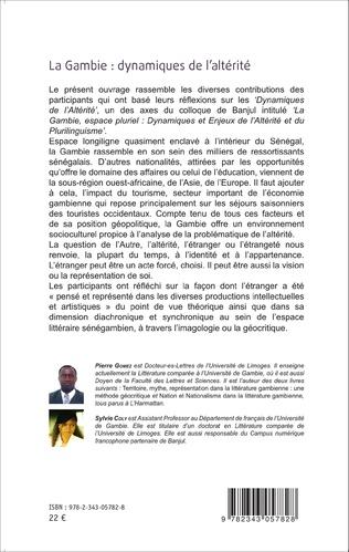 4eme Entre tolérance et convoitise : une étude de la représentation de l'étranger dans la littérature gambienne
