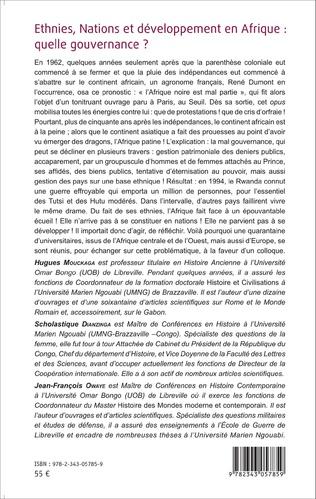 4eme Ethnies, nations et développement en Afrique : quelle gouvernance ?
