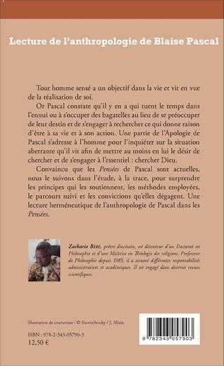 4eme Lecture de l'anthropologie de Blaise Pascal