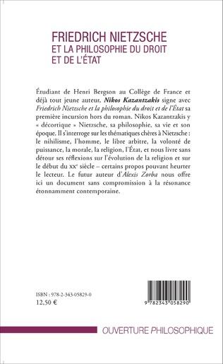 4eme Friedrich Nietzsche et la philosophie du droit et de l'État