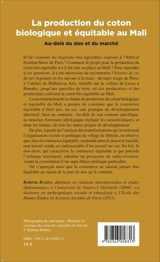 4eme La production du coton biologique et équitable au Mali