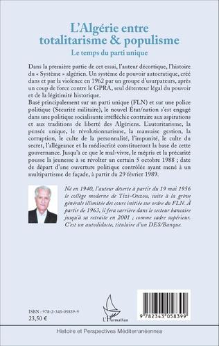 4eme L'Algérie entre totalitarisme & populisme