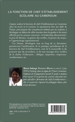 4eme La fonction de chef d'établissement scolaire au Cameroun