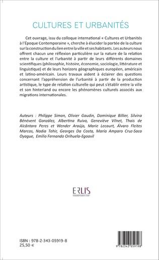 4eme Cultures et urbanités