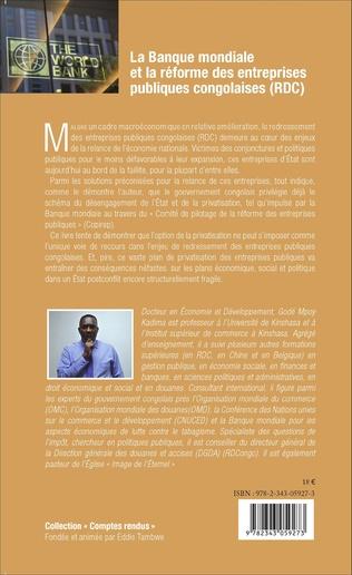 4eme La Banque mondiale et la réforme des entreprises publiques congolaises (RDC)