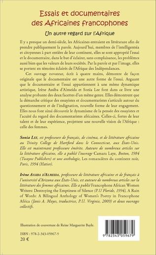 4eme Essais et documentaires des Africaines francophones