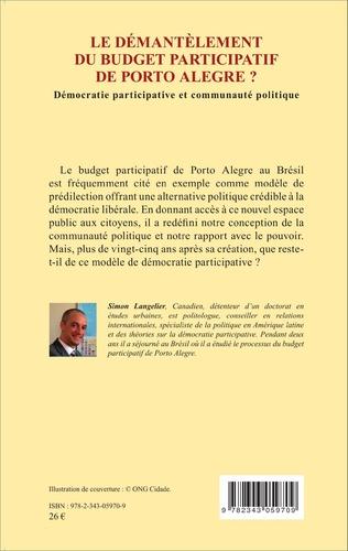 4eme Le démantèlement du budget participatif de Porto Alegre ?