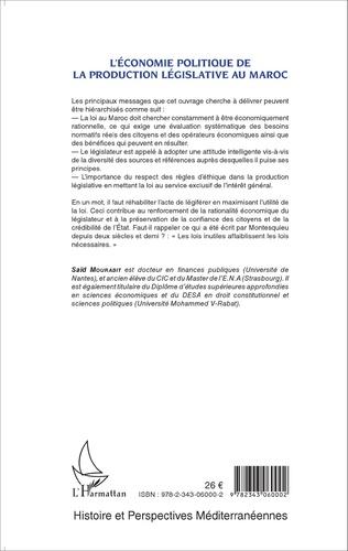 4eme L'économie politique de la production législative au Maroc