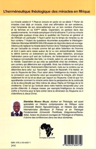 4eme L'herméneutique théologique des miracles en Afrique