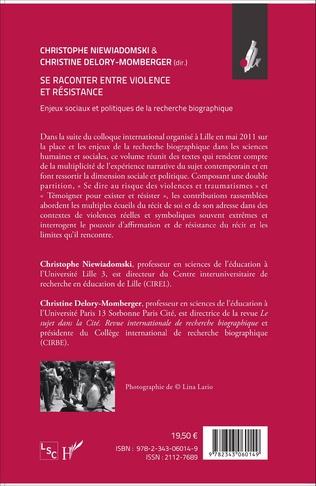 4eme Se raconter entre violence et résistance